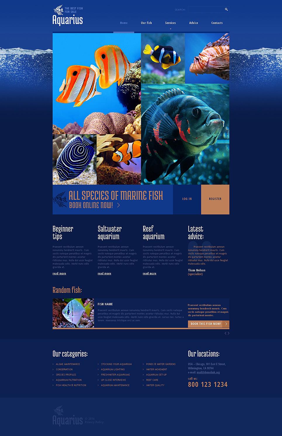 Fish Responsive Website Template New Screenshots BIG