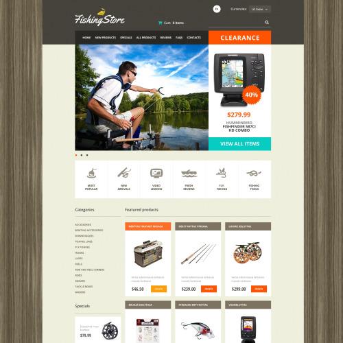 Fishing Store - HTML5 ZenCart Template
