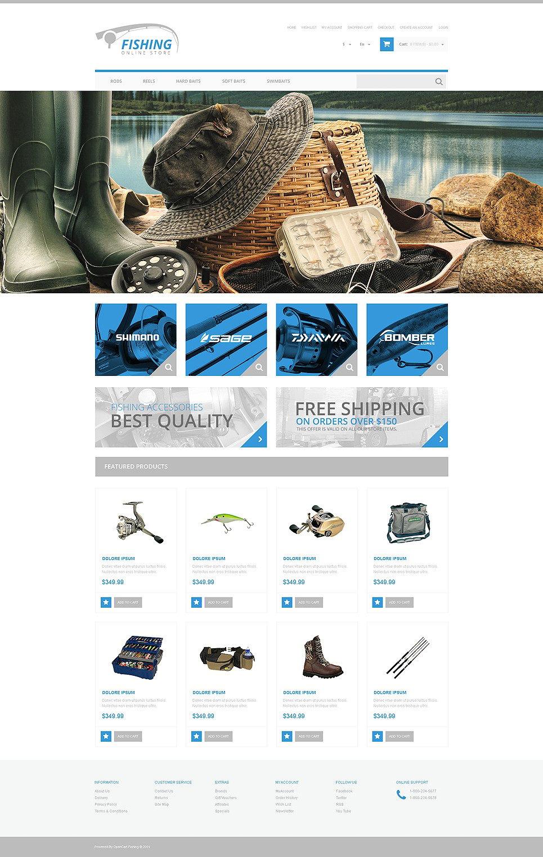 Fishing Responsive OpenCart Template New Screenshots BIG