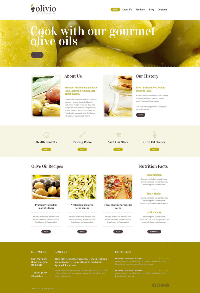 Food Store Drupal Template New Screenshots BIG