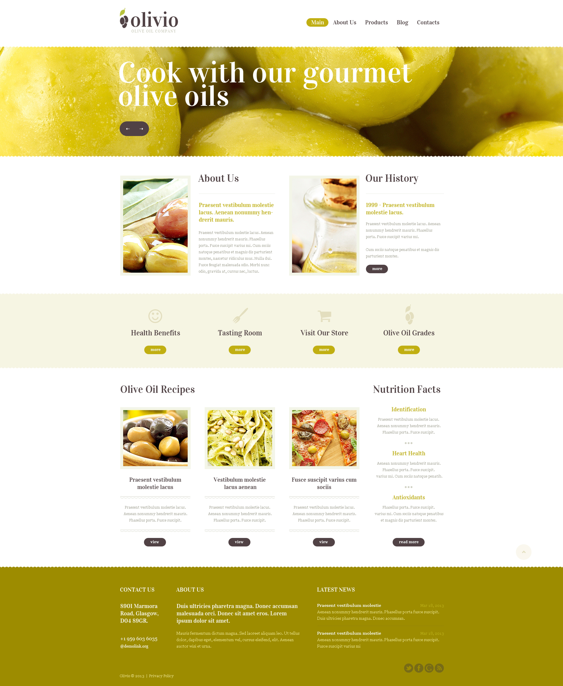 Food Store Drupal Template