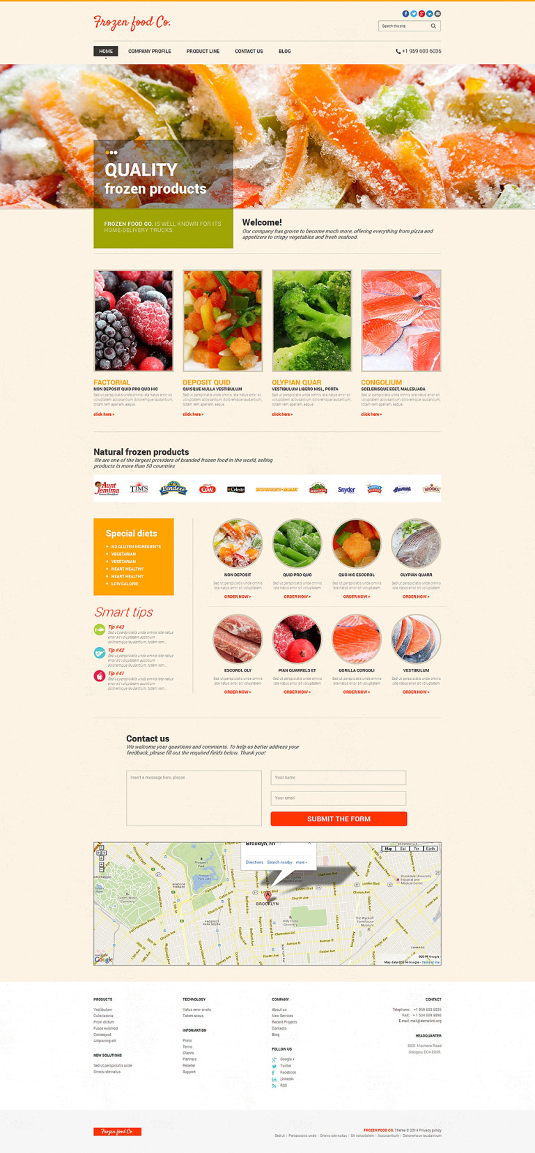 Frozen Food Responsive Website Template New Screenshots BIG