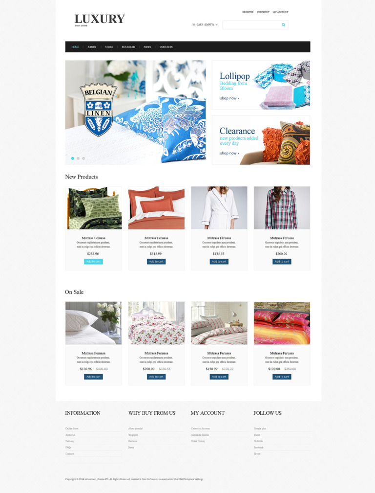 Home Decor VirtueMart Template New Screenshots BIG