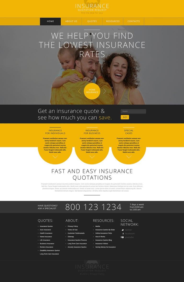 Insurance Responsive Website Template New Screenshots BIG