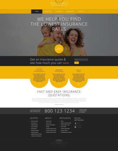 insurance quote website template  29  Best Insurance Website Templates