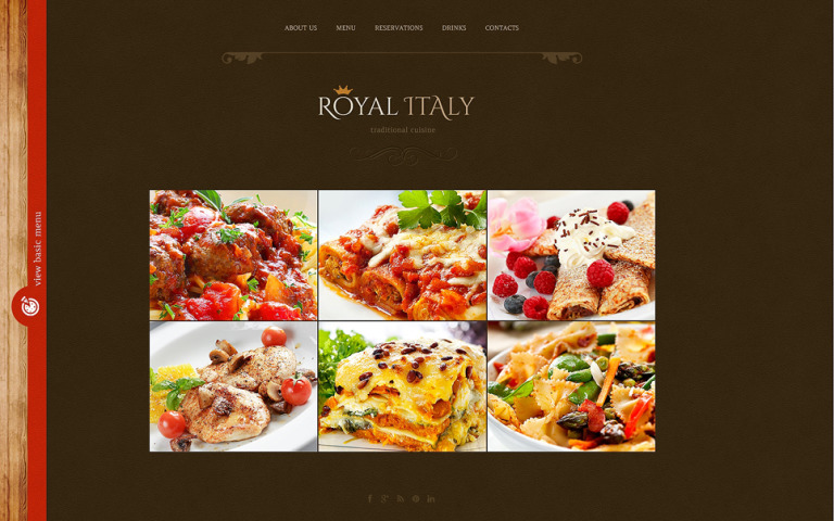 Italian Restaurant Website Template New Screenshots BIG