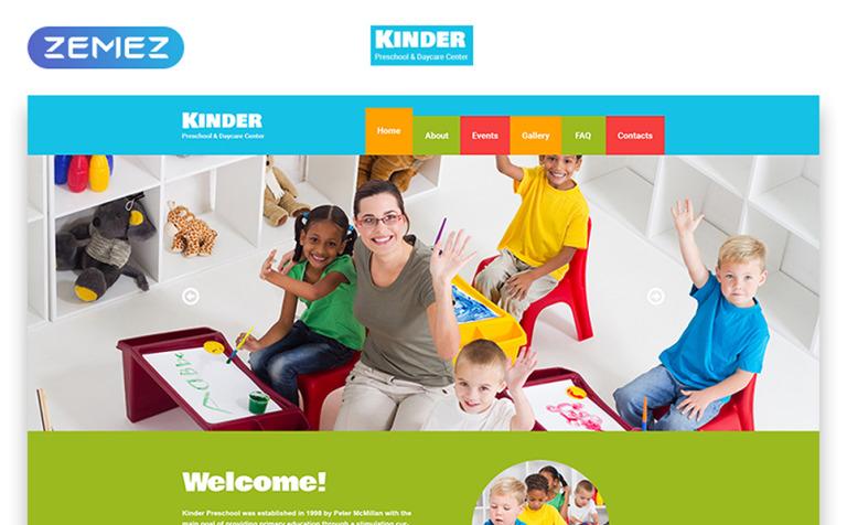 kids center responsive website template 48443