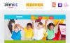 """Kinder - Primary School Creative HTML"" modèle web adaptatif Grande capture d'écran"