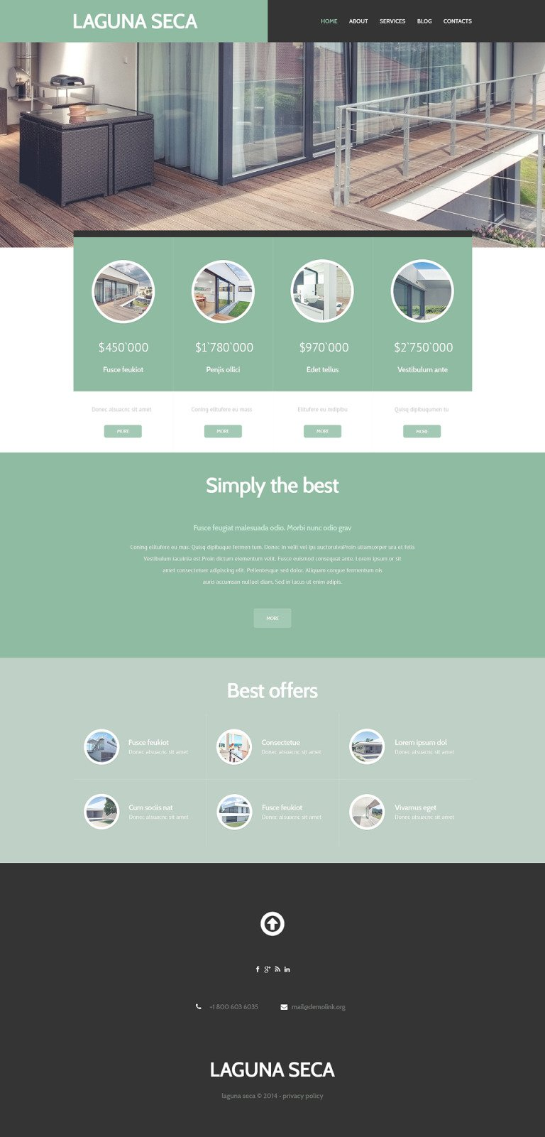 Land Brokers WordPress Theme New Screenshots BIG