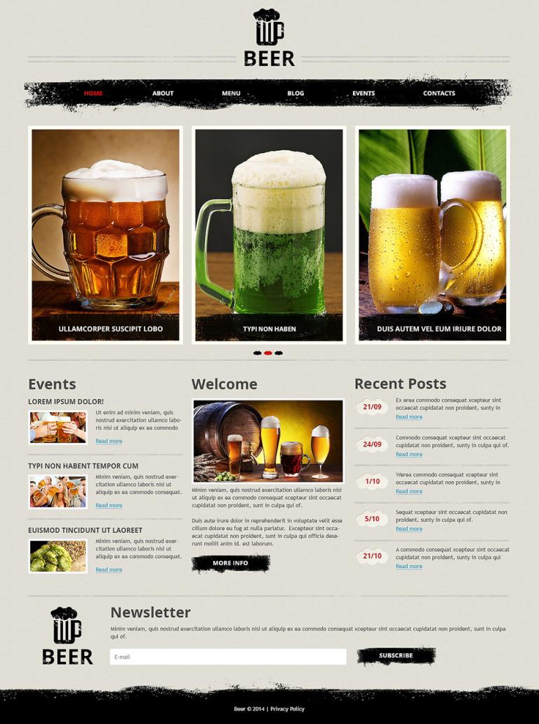 Magnificent Beer Pub Joomla Template New Screenshots BIG