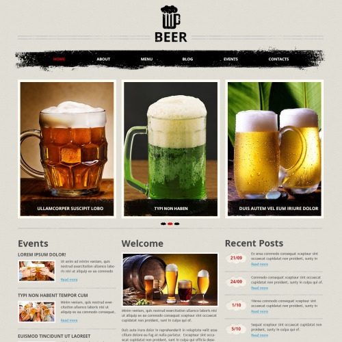 Beer - Joomla! Template based on Bootstrap