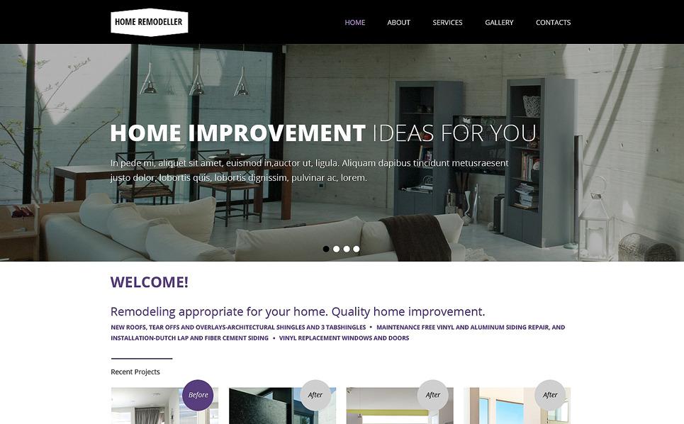 Template siti web 48482 per un sito di ritocco domestico for Siti web di home plan