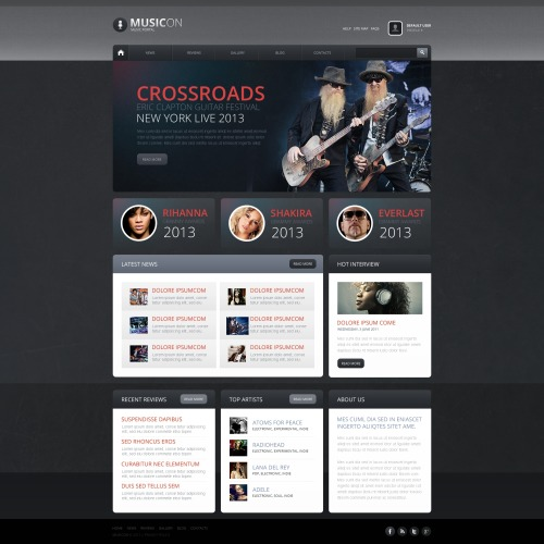 Music On - HTML5 Drupal Template