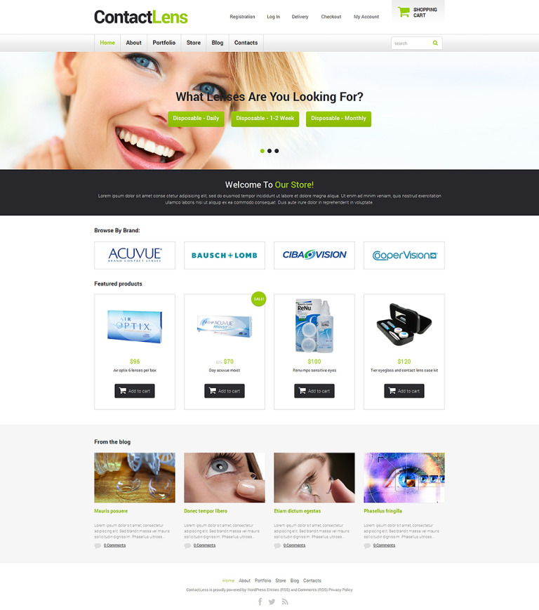 Optometrist's Responsive WooCommerce Theme New Screenshots BIG