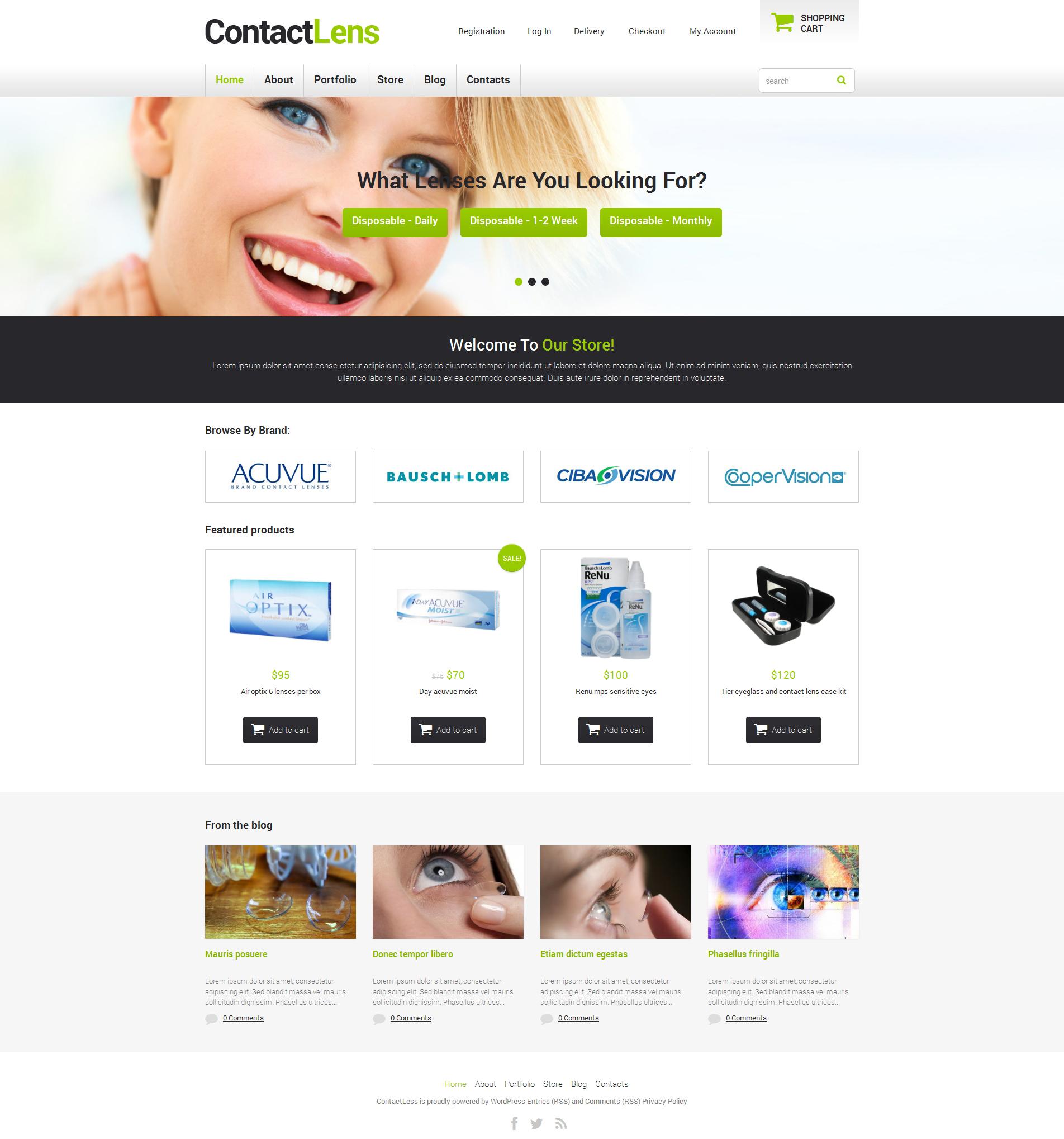 Optometrist's Responsive WooCommerce Theme - screenshot