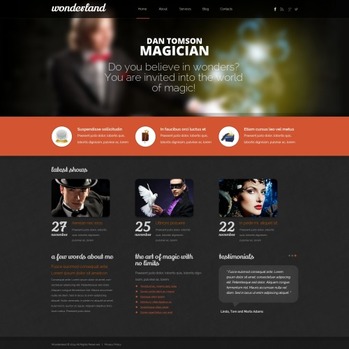 Wondersland - HTML5 Drupal Template