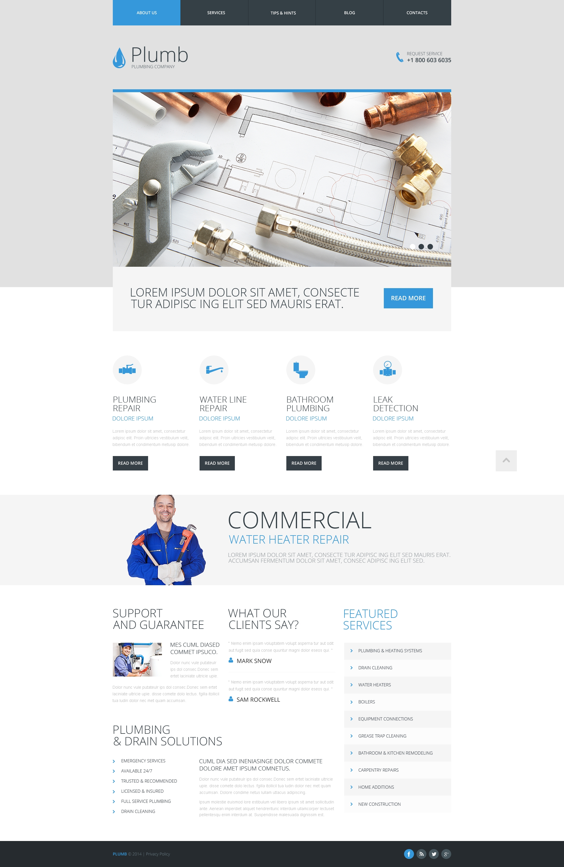 Plantilla Web Responsive para Sitio de Servicios de Fontanería #48475