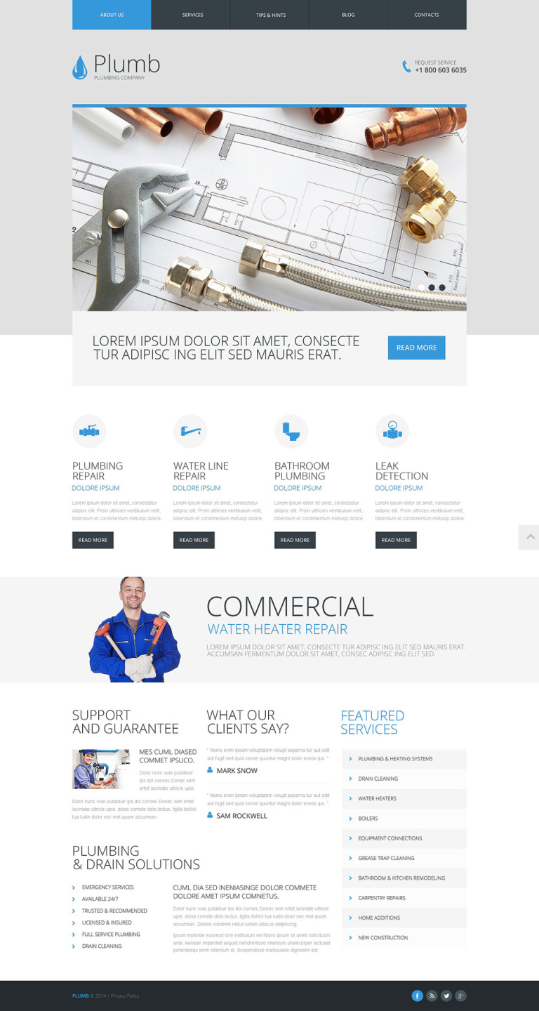 Plumbing Responsive Website Template New Screenshots BIG