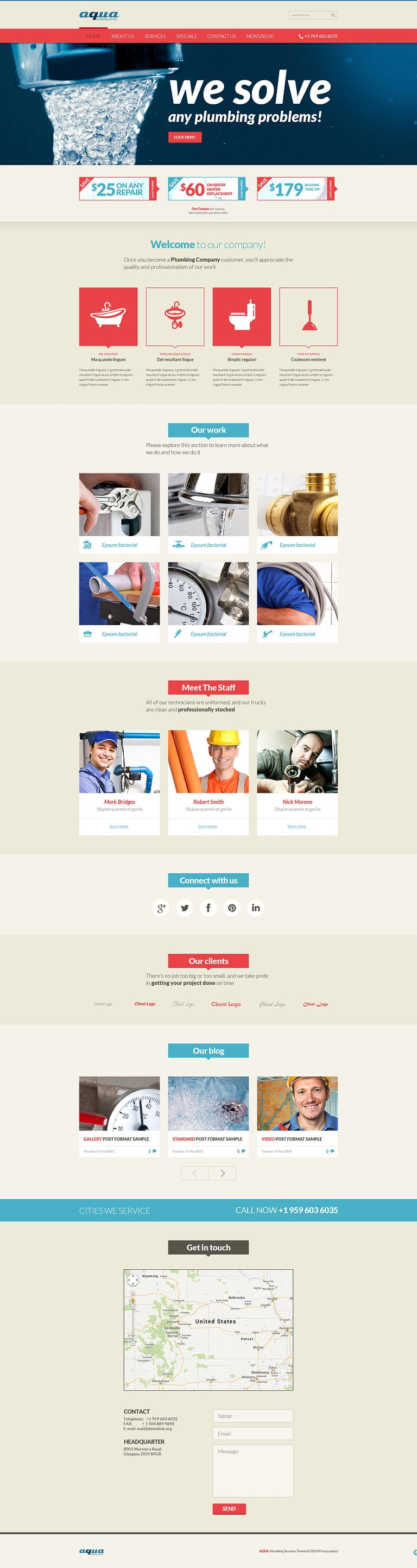 Plumbing Services Online Joomla Template New Screenshots BIG