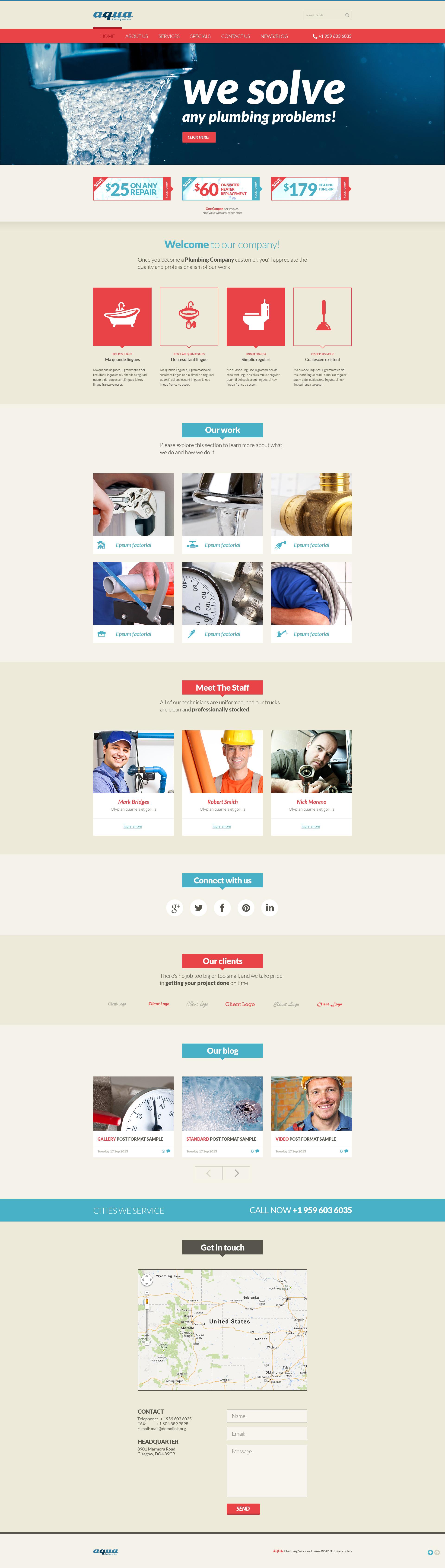 Plumbing Services Online Joomla Template