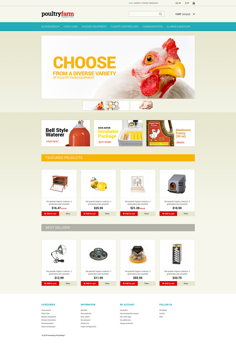Poultry Farm PrestaShop Theme New Screenshots BIG