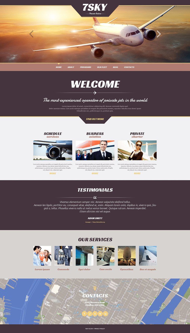 Private Airline Responsive WordPress Theme New Screenshots BIG