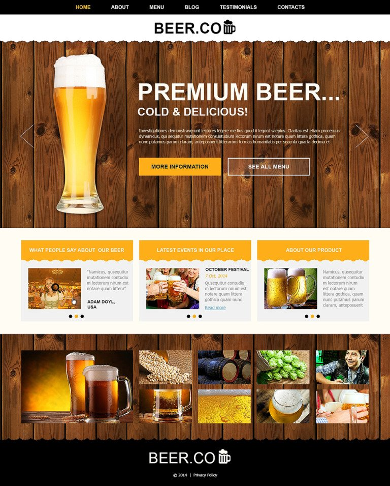 Pub Responsive Joomla Template New Screenshots BIG