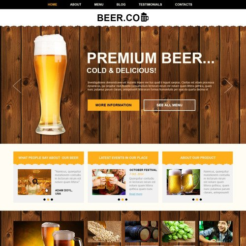 Beer. Co - Joomla! Template based on Bootstrap