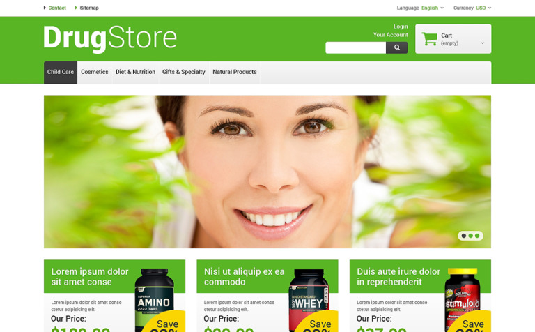 Reliable Drugstore PrestaShop Theme