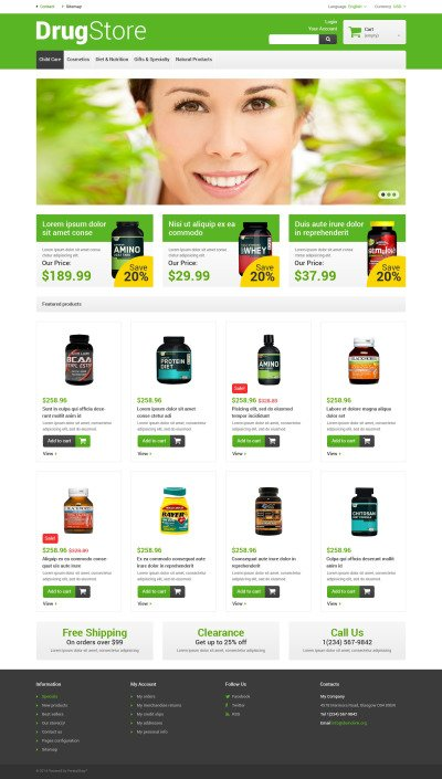 Reliable Drugstore PrestaShop Theme