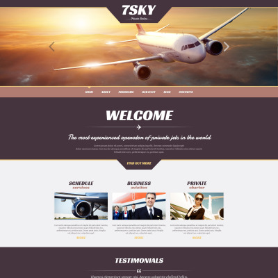 Private Airline Responsive WordPress Sablon