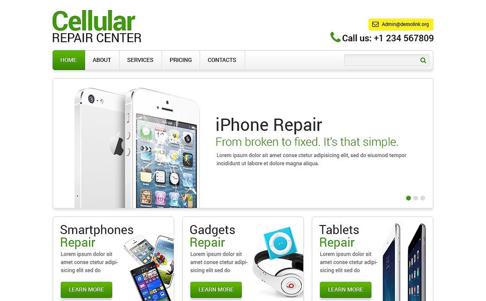 Reszponzív Számítógép javítás Weboldal sablon New Screenshots BIG