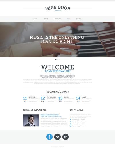 Personal Page Responsive Weboldal Sablon
