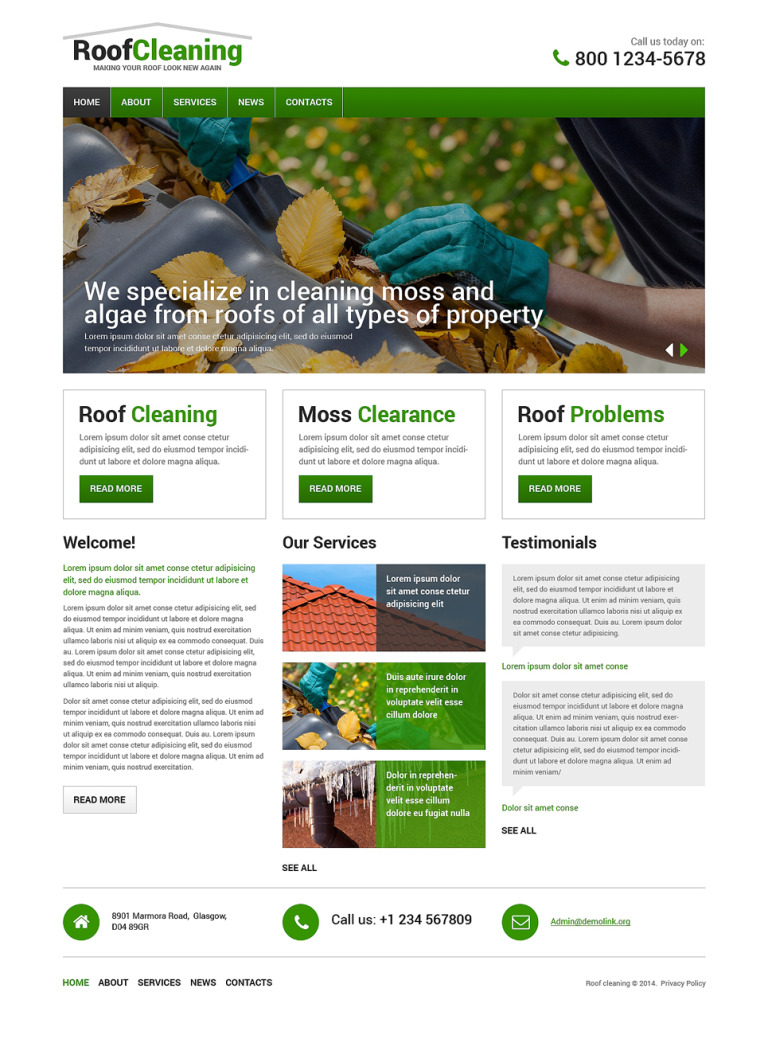 Roofing Company Responsive Website Template New Screenshots BIG