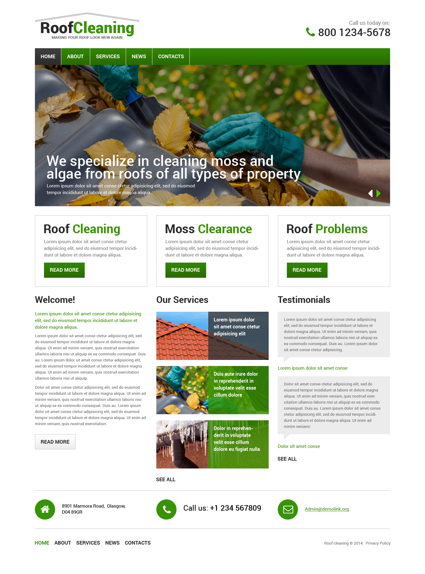 roofing company responsive website template 48416