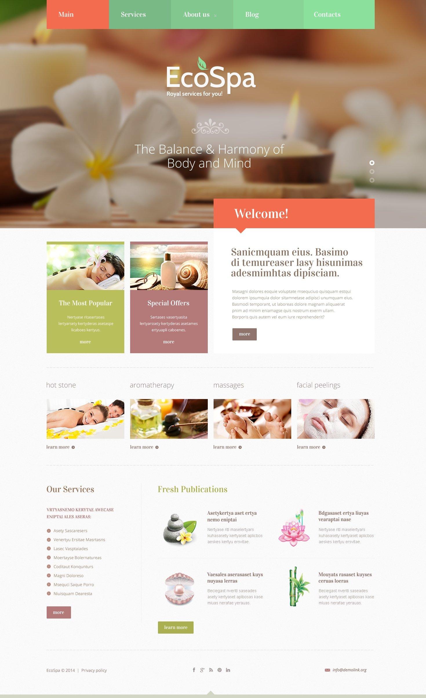 spa website designs