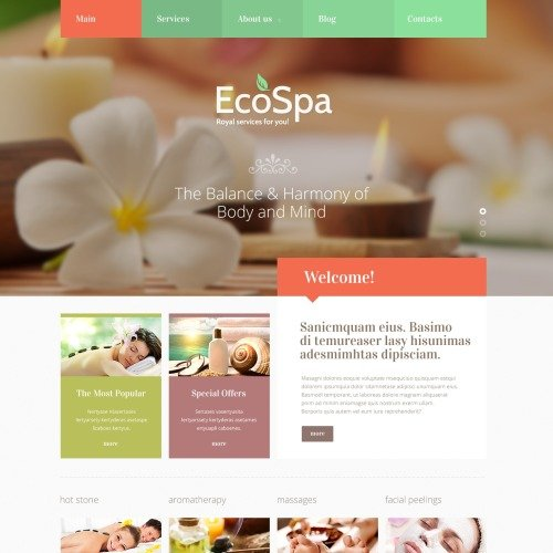 Ecospa - Cosmetic Store Template based on Bootstrap