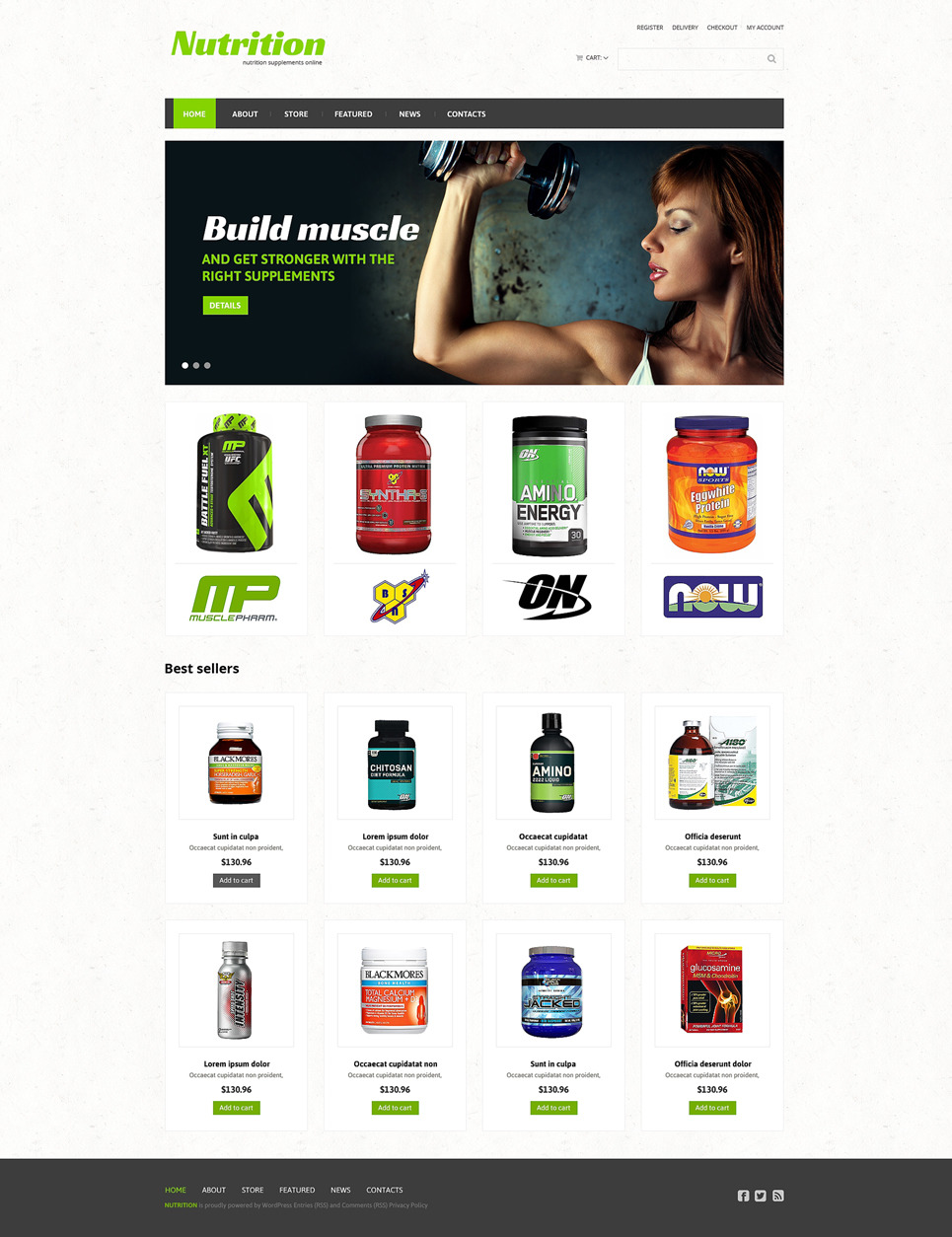 Sports Store Responsive WooCommerce Theme New Screenshots BIG
