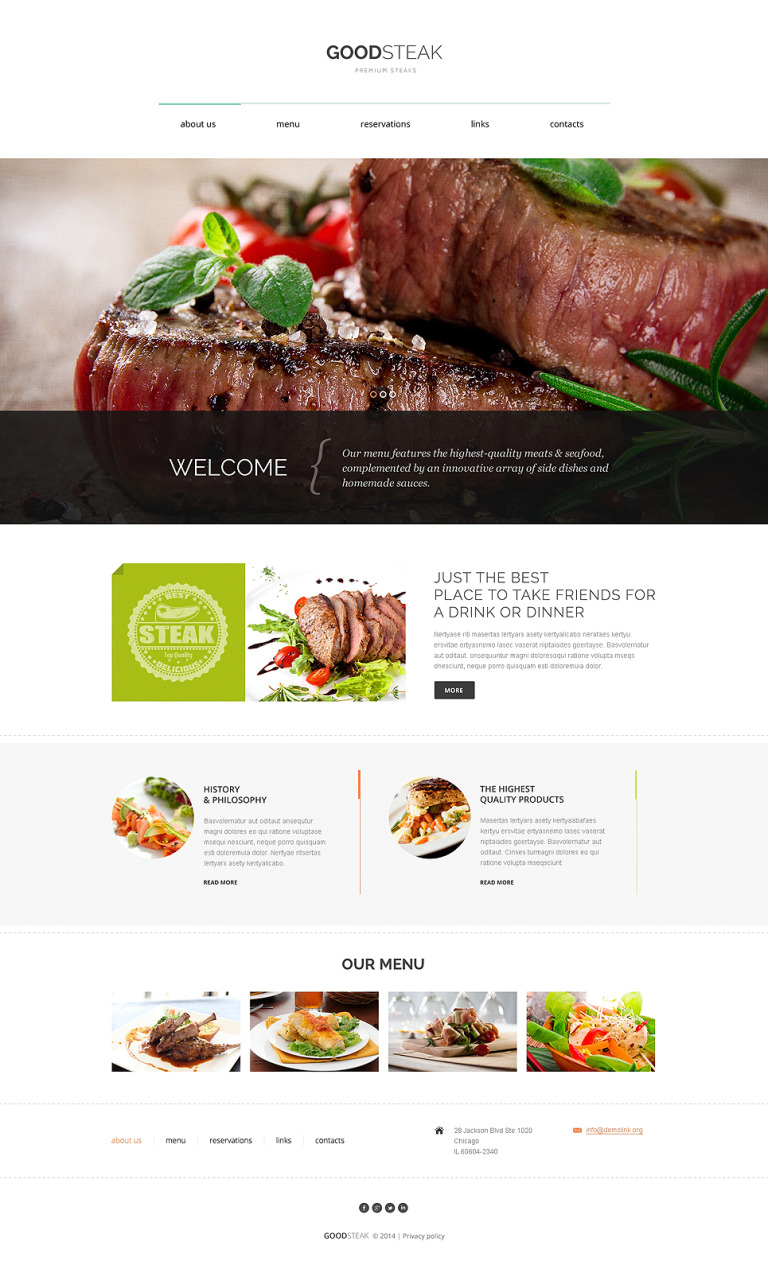 Steak Club Drupal Template New Screenshots BIG