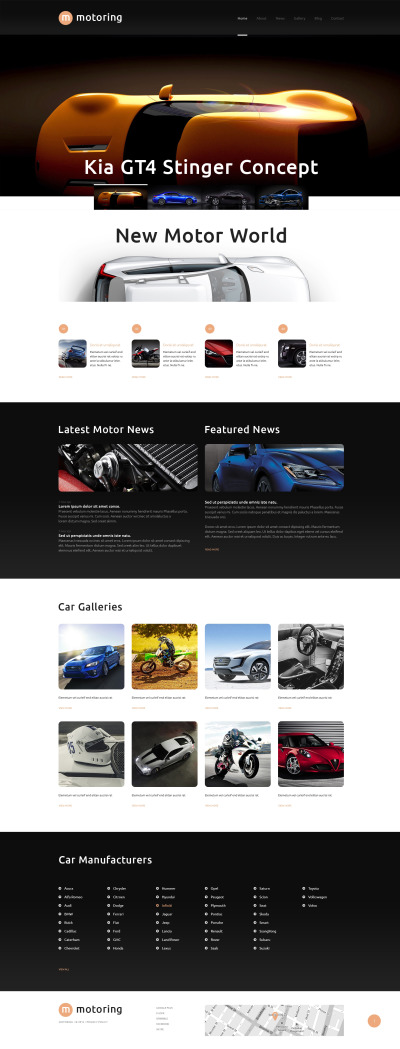 Responsive Tema De WordPress #48421 para Sitio de  para Sitio de Clubes de coches