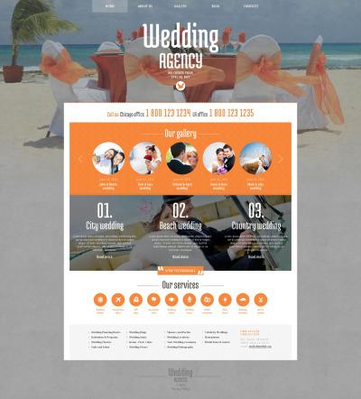 Responsive Tema De WordPress #48420 para Sitio de  para Sitio de Organización de bodas