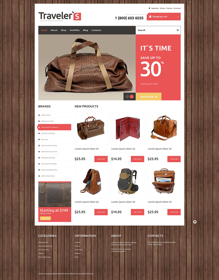 Travel Responsive WooCommerce Theme New Screenshots BIG