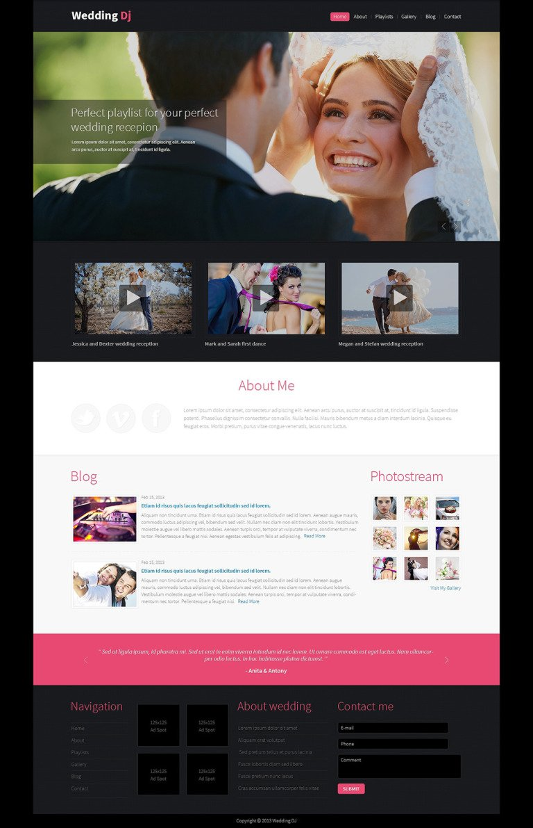 Wedding Planner Drupal Template New Screenshots BIG