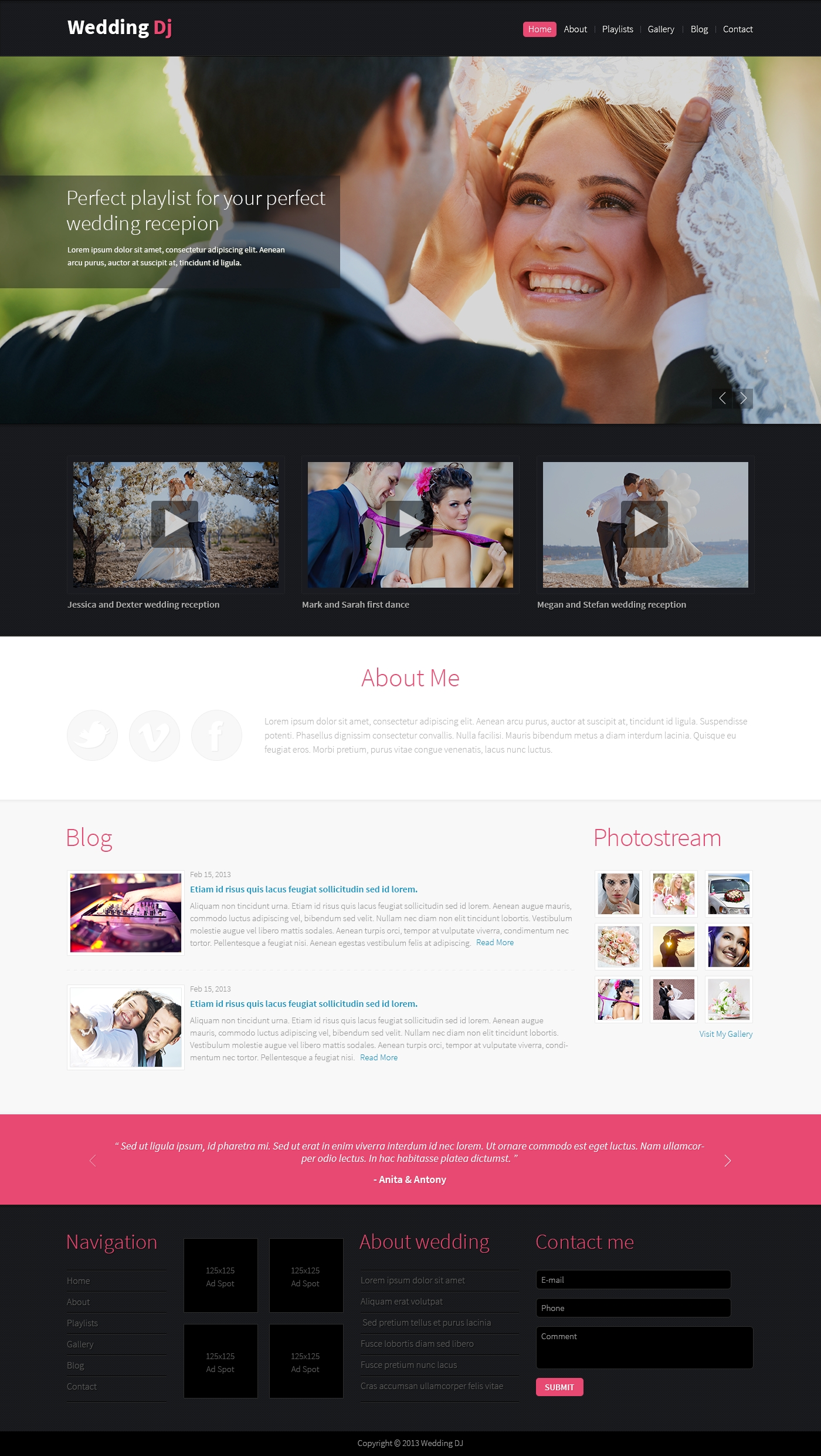 Wedding Planner Drupal Template