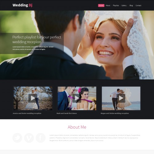 Wedding Dj - HTML5 Drupal Template