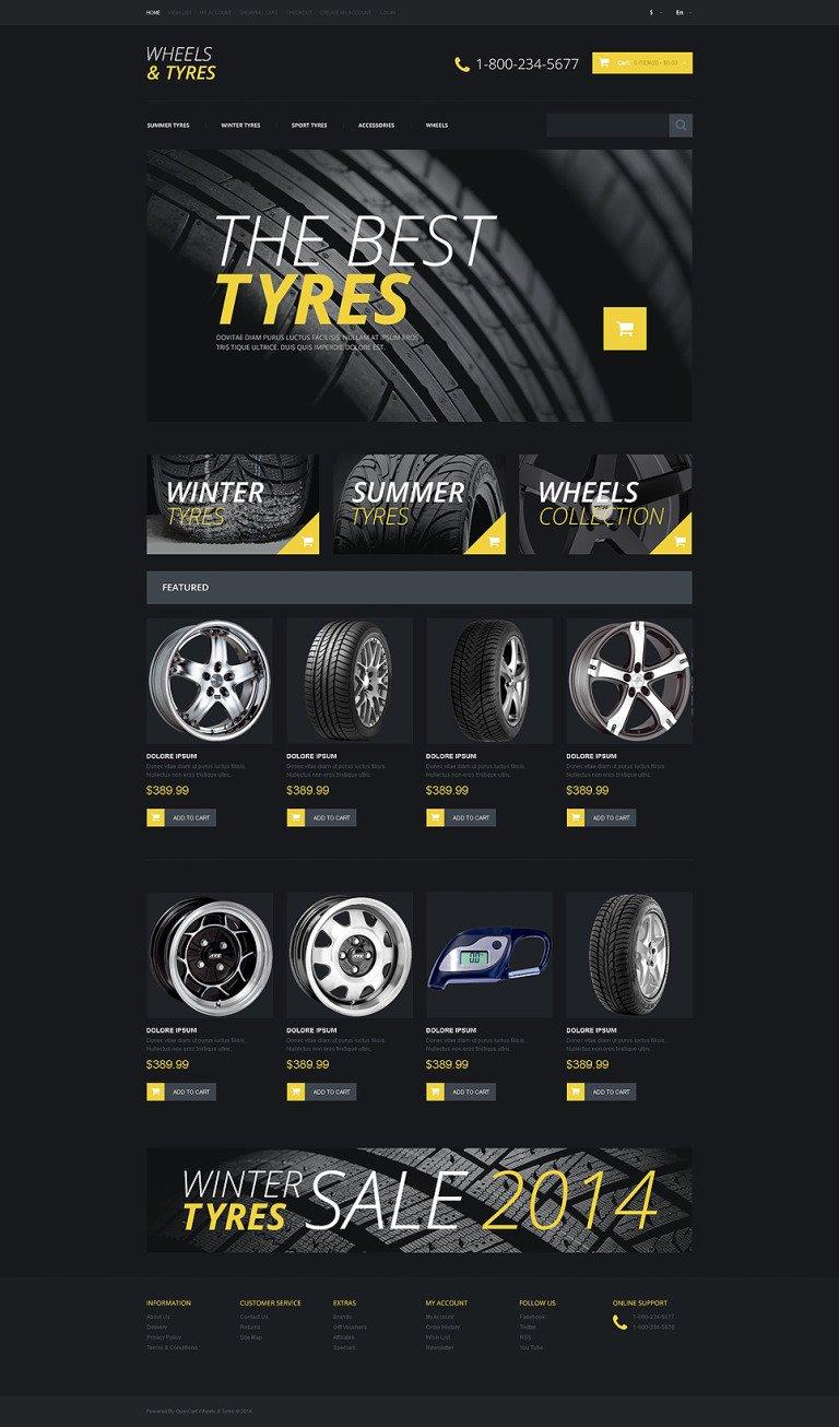Wheels & Tires Responsive OpenCart Template New Screenshots BIG