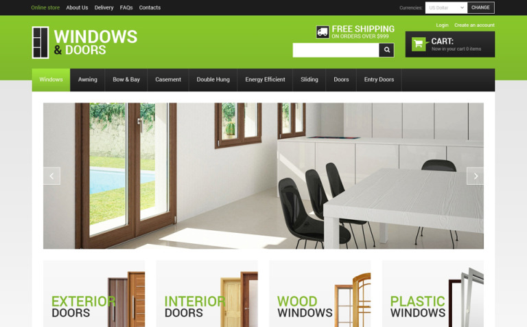 Windows & Doors VirtueMart Template #48462