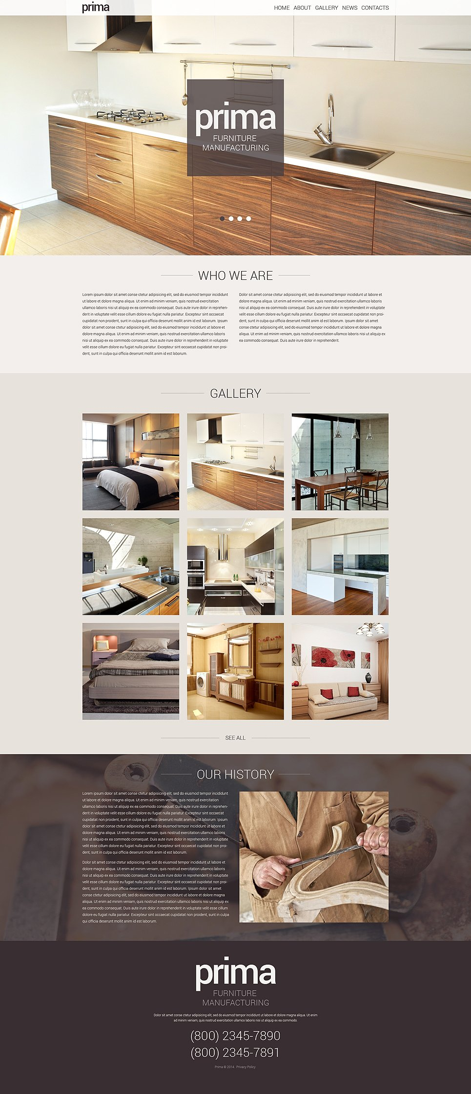 Шаблон сайта на тему мебель #48469