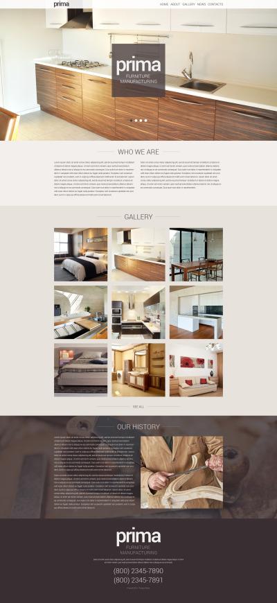 WordPress шаблон №48469 на тему мебель