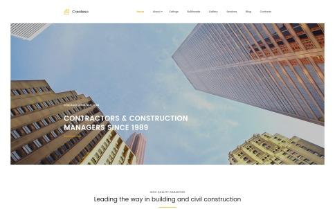 Industrial Website Design - Createso